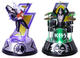 1220: KISS 'Destroyer' Bradford Exchange Illuminated Spaceman / Catman Figurines